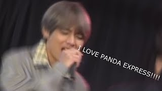 Taehyung loving panda express for 90 seconds straight