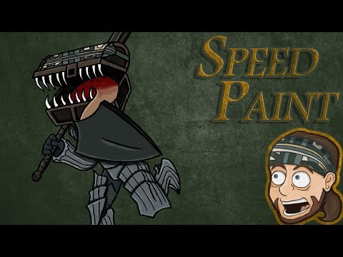 Let's Create: Dark Souls 3 Title Card | SpeedPaint | Ark Thompson Draws