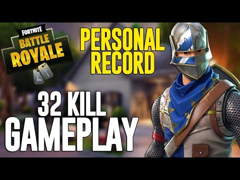 32 Kill Solo Squads!! Fortnite Battle Royale Gameplay – Ninja