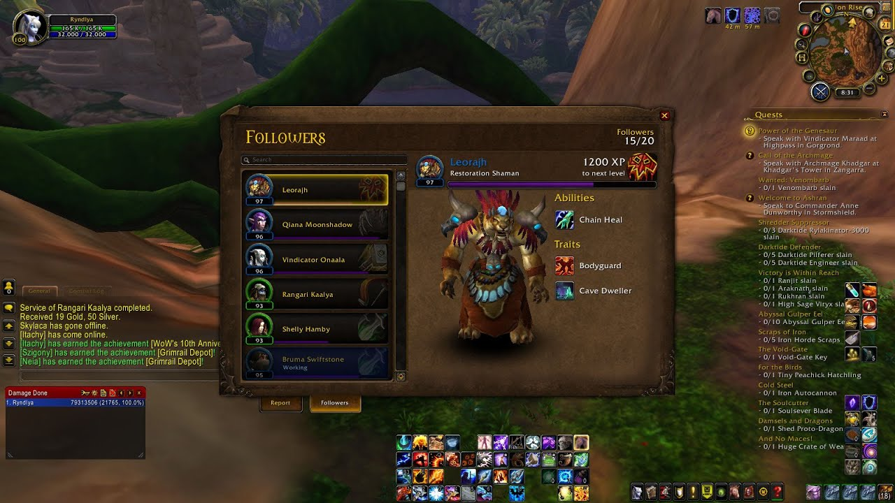 How To Find Leorajh World Of Warcraft Rare Follower Warlords Draenor Wod You