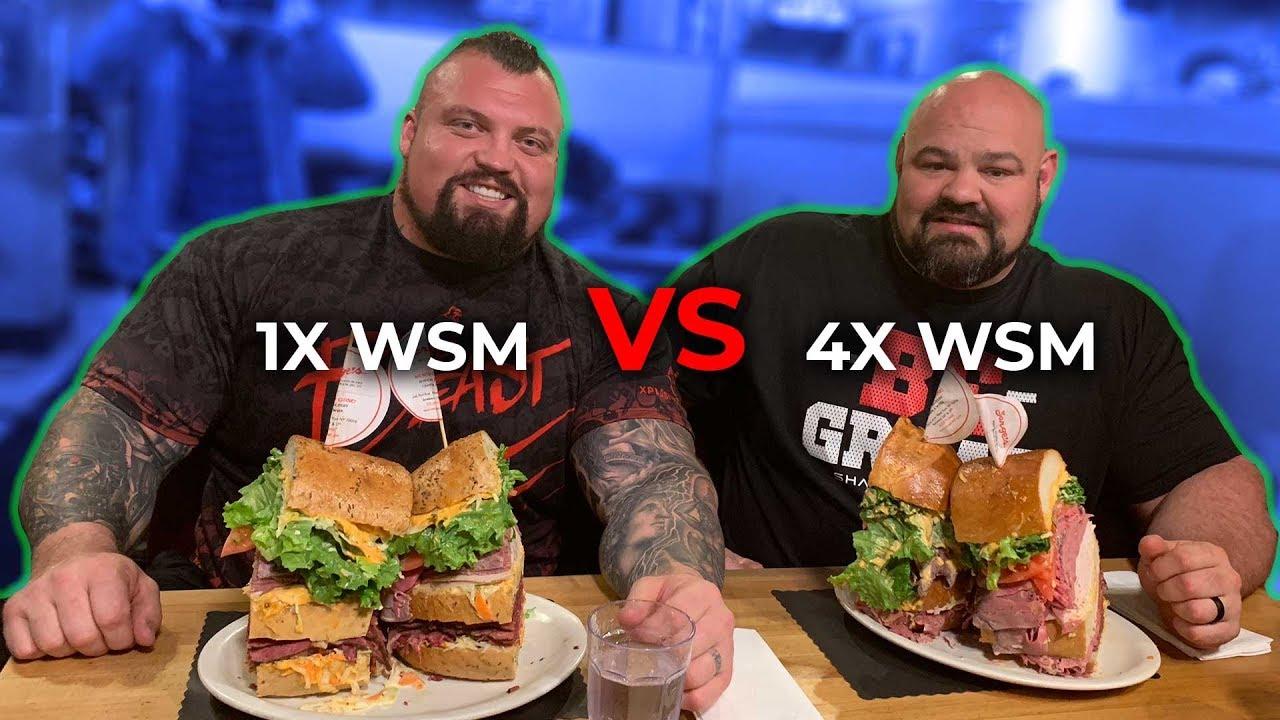 Download WORLD'S STRONGEST MEN VS 18LB SANDWICH