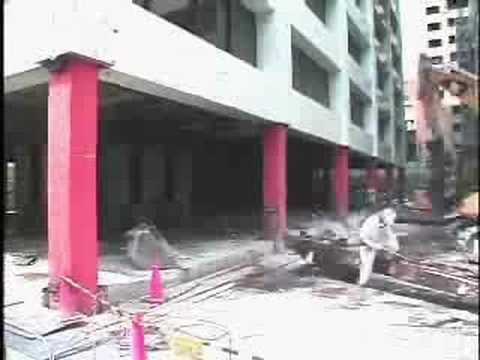 Daruma-otoshi skyscraper demolition