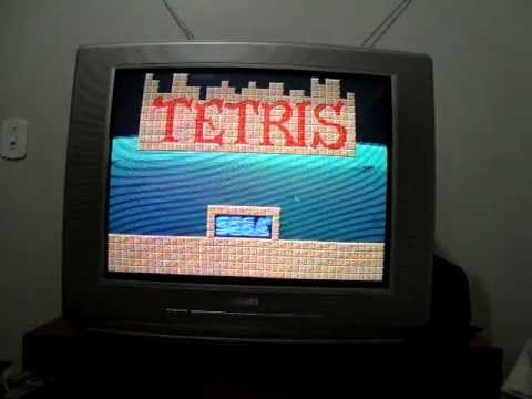 Tetris Sega game board teste na Supergun Universal by Macck