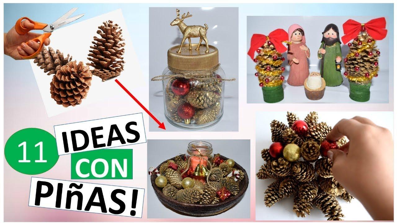 11 manualidades para navidad f ciles con pi as de pino for Manualidades para diciembre