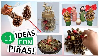 11 Easy Christmas Ideas with Pinecones