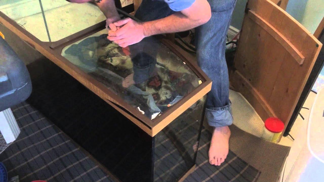 Fish aquarium repair - 1795 Bow Front Repair Part One Carls Aquarium