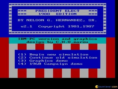President Election gameplay (PC Game, 1988)