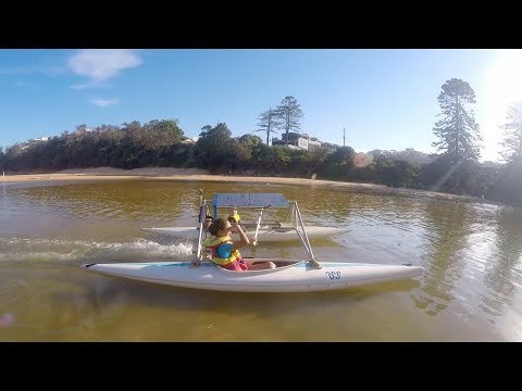 Father and daughter build a solar powered catamaran boat