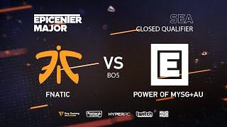 MYSG vs Fnatic, EPICENTER Major 2019 SA Closed Quals , bo5, game 2 [Lex & 4ce]