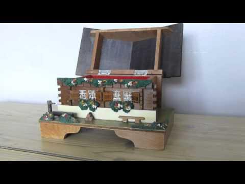 "Vintage Japanese ""COTTAGE"" Musical Jewellry Box. Wood Craft. Jewelry"