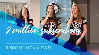 Baixar 2 million subscribers & 500 million views for Saskia's Dansschool!! Thank you all!