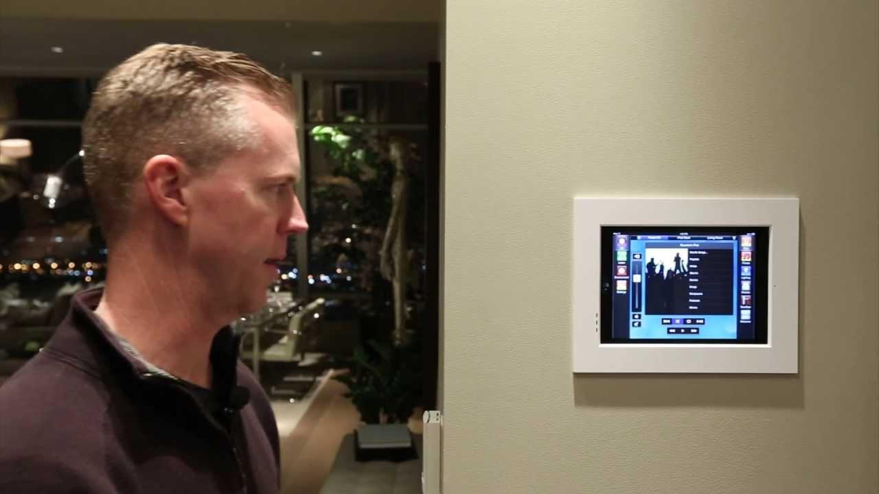 Savant home automation using a flushmounted Ipad as the