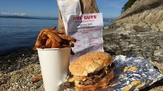 Five Guys Burgers And Fries Bacon Cheeseburger & Cajun Fries Review