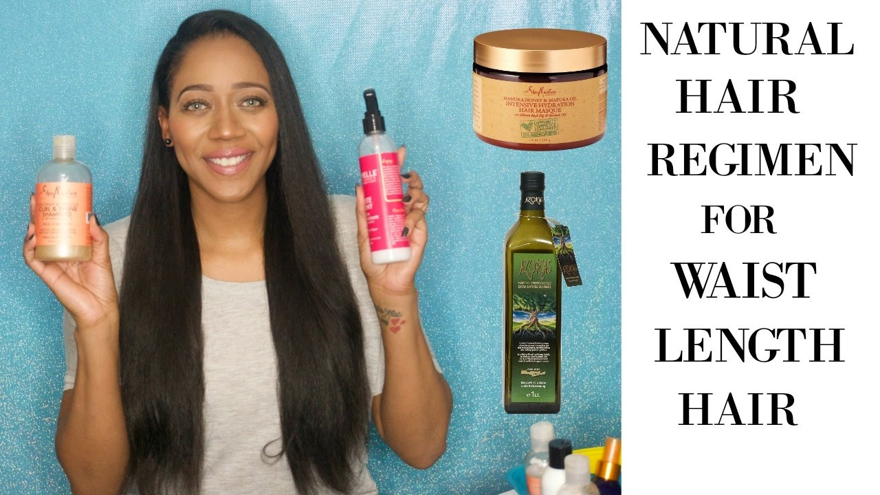 natural hair regimen waist