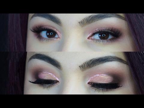 Valentine&39;s Day Makeup - Round Glitter Cut Crease  Delia Ahmed