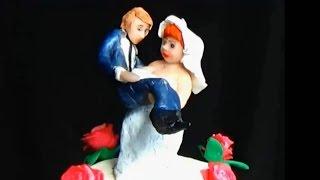 Фигурка жениха. Украшение свадебных тортов. Свадебные фигурки. Украшение тортов видео.