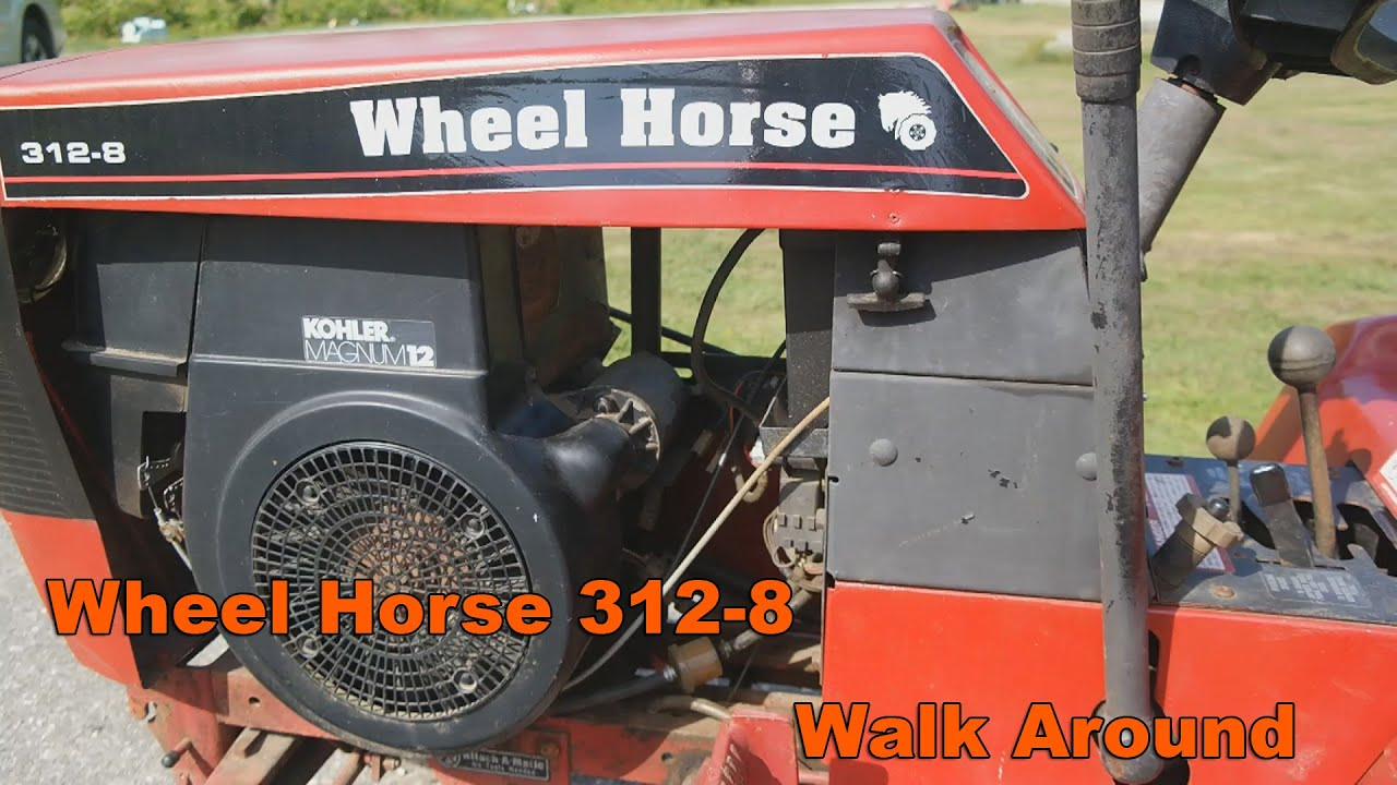 Wheel Horse 312 8 Walk Around