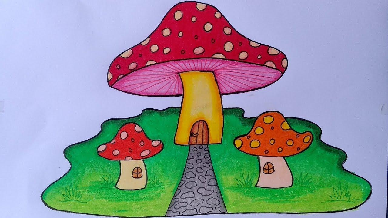 Menggambar Jamur Yang Bagus Cara Menggambar Dan Mewarnai Yang Bagus