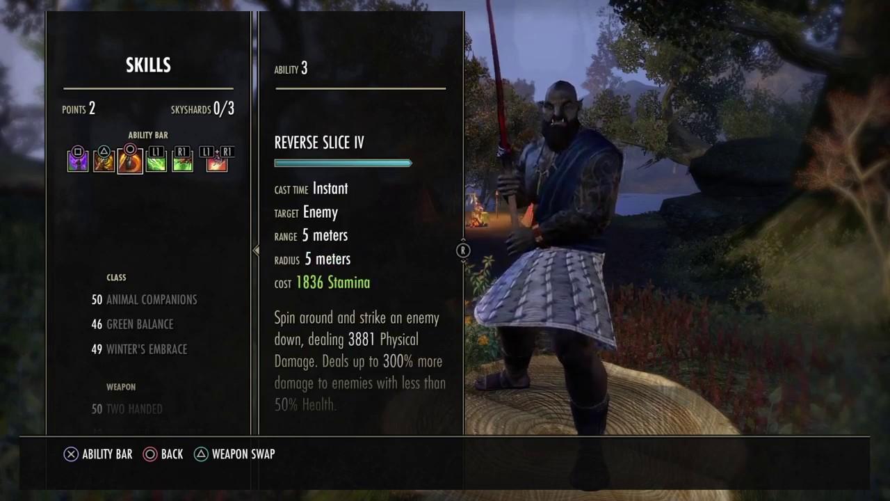 Eso Morrowind Stam Warden Tank