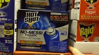 How To Use Hot Shot No Mess Fogger | How To Kill Fleas & Insects