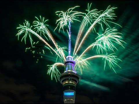 New Zealand fireworks welcome in 2018