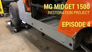 MG Midget 1500 Restoration  - Rear Bulkhead and Inner Sill