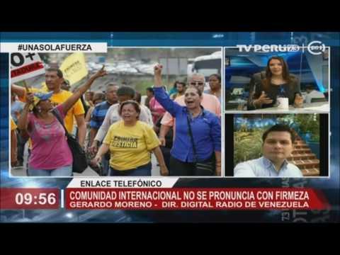 Gerardo Moreno, Dir. Digital Radio de Venezuela, comenta la situación actual de país