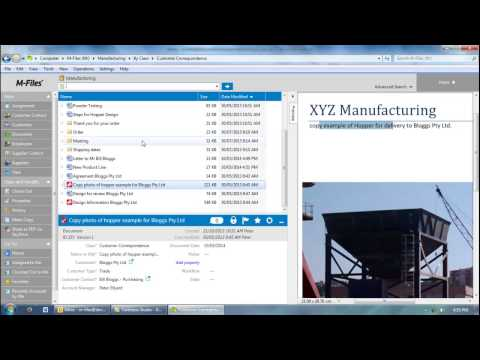 M-Files document management software for Manufacturing introduction video
