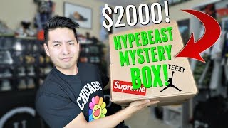 UNBOXING A $2000+ HYPEBEAST MYSTERY BOX! (SUPREME, OFF-WHITE, & JORDANS!)