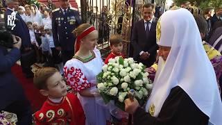 Скачать Патриарх Кирилл совершил чин Воздвижения Креста
