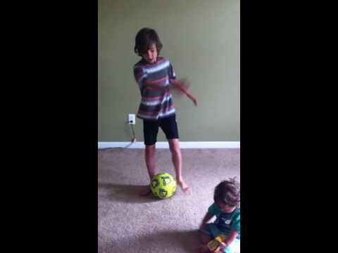 Tutorial of how to juggle a soccer ball