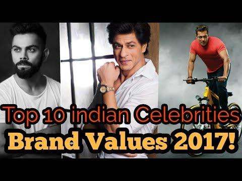 Top 10 Indian Celebrities And Their Brand Values List 2017! SRK || SALMAN || VIRAT Mp3