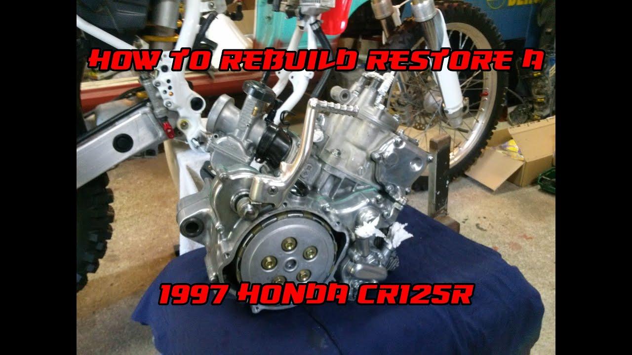 how to rebuild a 1997 honda cr125 better than new restoration rebuild dirtbikedudez [ 1280 x 720 Pixel ]