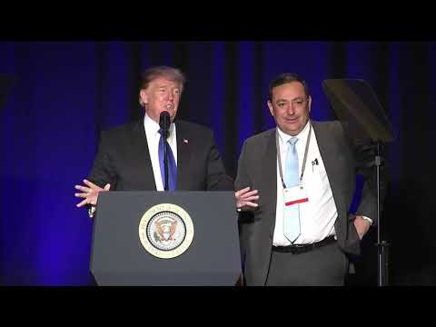 President Trump Praises HPD Chief Art Acevedo at Law Enforcement Conference