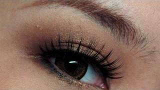 bronzy copper brown smokey eye