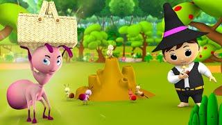 Magical Ant &amp Magician Hindi Story  जदई चट और जदगर हनद कहन - 3D Kids Magical Stories