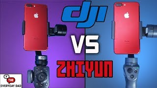 Zhiyun Smooth 4 VS DJI Osmo Mobile 2!  Whats the best BUDGET Cell Phone Gimbal?!