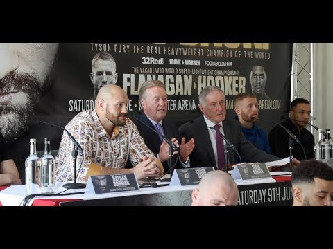 HE'S BACK - TYSON FURY MANCHESTER PRESS CONFERENCE *FULL & UNCUT* - WITH FRANK WARREN & UNDERCARD