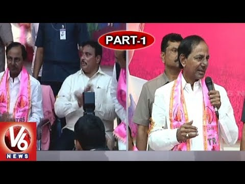 CM KCR Speech | Danam Nagender Joins TRS At Telangana Bhavan | Hyderabad | Part - 1 | V6 News