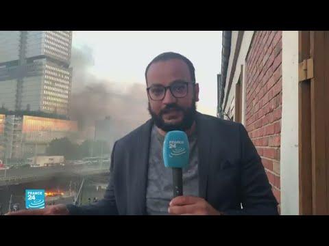 صدامات في باريس على هامش مظاهرة حاشدة ضد عنف الشرطة  - نشر قبل 2 ساعة