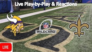 2019 NFC Wild Card | Minnesota Vikings vs. New Orleans Saints Live Stream Play-by-Play, Reaction
