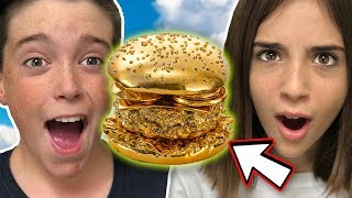 TRYING THE $100 GOLD BURGER!! (24K)