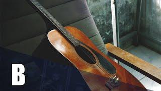 Hazy Acoustic Guitar Backing Track In B Major