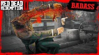 RDR2 Badass Arthur Van Horn town Crazy Ragdoll funny moments Gameplay????