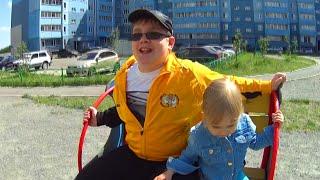 Лёва показывает свою детскую площадку Рейд по детским площадкам!!!