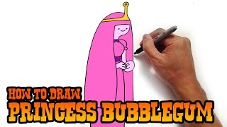 How to Draw Princess Bubblegum - Adventure Time- Video Lesson