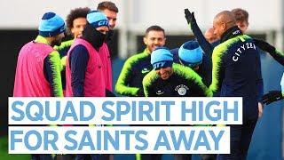 Squad Spirit High for Saints Away | Training | Man City