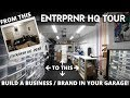How to Start a DIY Clothing Brand in Your Garage - ENTRPRNR HQ Tour