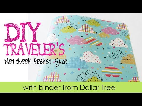 DIY TN pocket size- binder from Dollar Tree - Clouds Traveler's Notebook