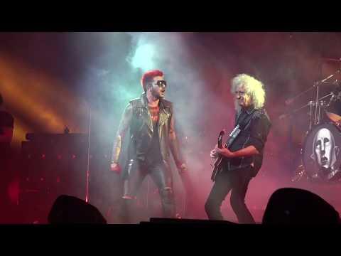 """Queen + Adam Lambert - opening + """"Hammer to Fall"""" Auburn Hills Detroit 7-20-17 The Palace"""